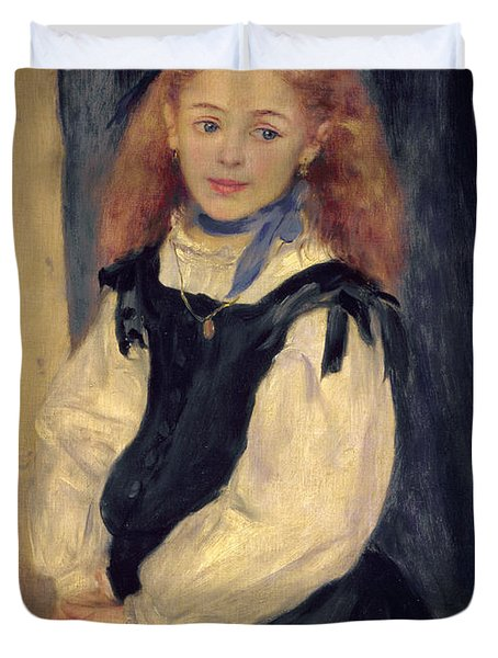 Portrait Of Mademoiselle Legrand Duvet Cover by Pierre Auguste Renoir