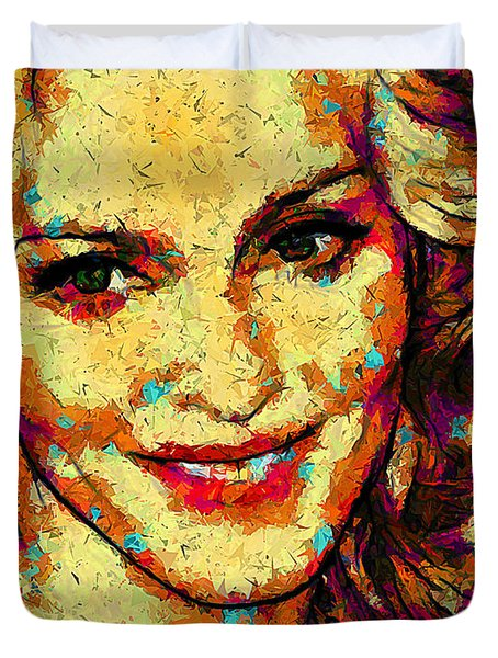 Portrait Of Madonna Duvet Cover