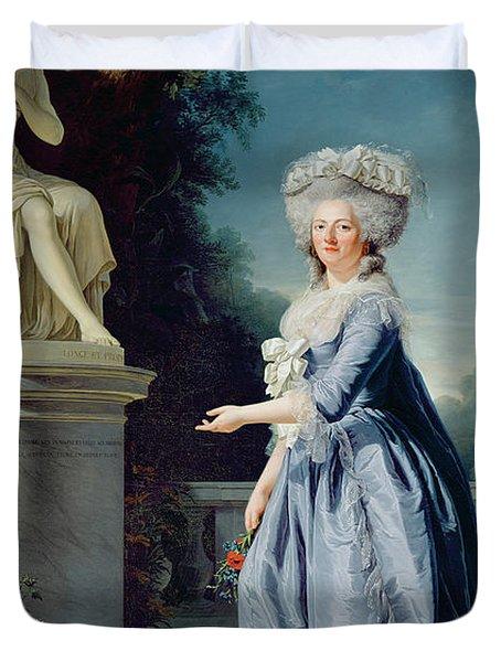 Portrait Of Marie-louise Victoire De France Duvet Cover by Adelaide Labille-Guiard