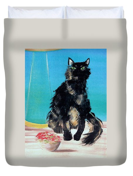 Portrait Of Muffin Duvet Cover