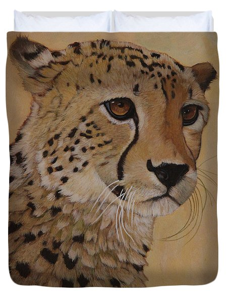 Portrait Of Murphy - Male Cheetah Duvet Cover