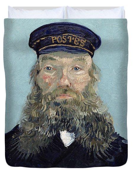 Portrait Of Postman Roulin Duvet Cover by Vincent van Gogh