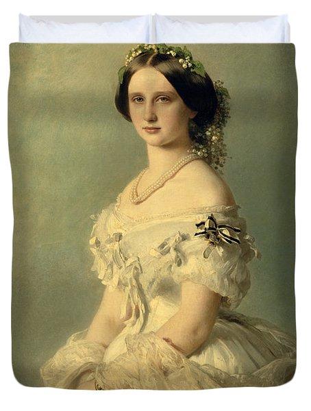 Portrait Of Princess Of Baden Duvet Cover