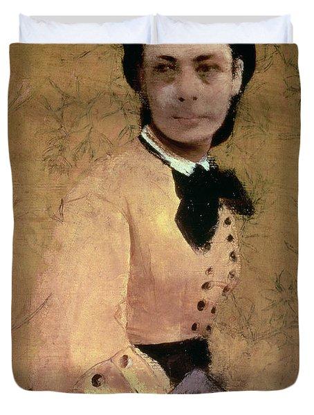 Portrait Of Princess Pauline De Metternich Duvet Cover by Edgar Degas