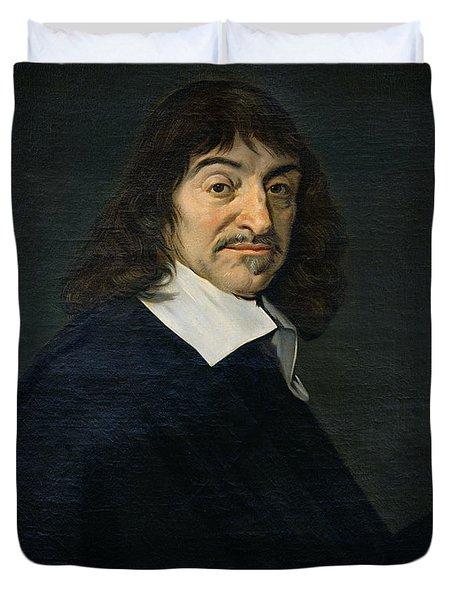 Portrait Of Rene Descartes Duvet Cover