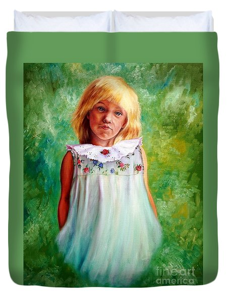 Portrait Of Sara Duvet Cover