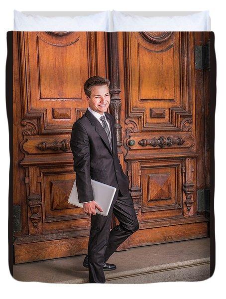 Portrait Of School Boy 1504256 Duvet Cover