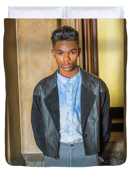 Portrait Of School Boy 15042624 Duvet Cover
