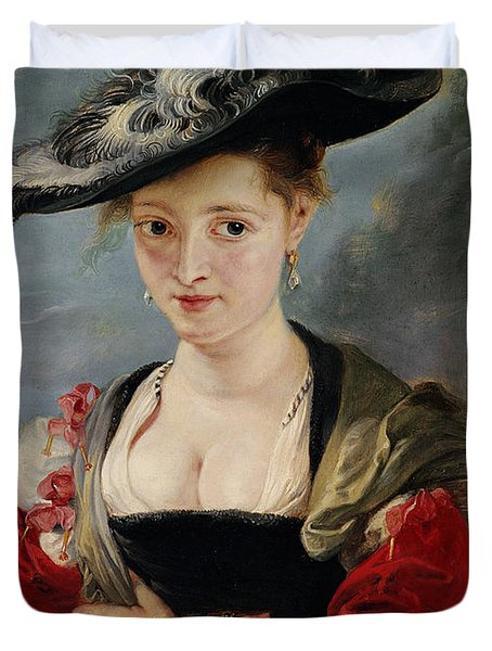 Portrait Of Susanna Lunden Duvet Cover by Peter Paul Rubens