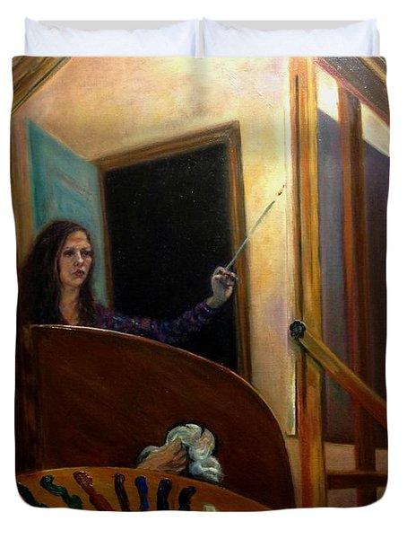 Portrait Of The Artist Duvet Cover