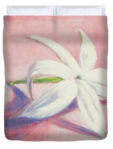 Portrait Of The Jasmine Flower Duvet Cover by Usha Shantharam