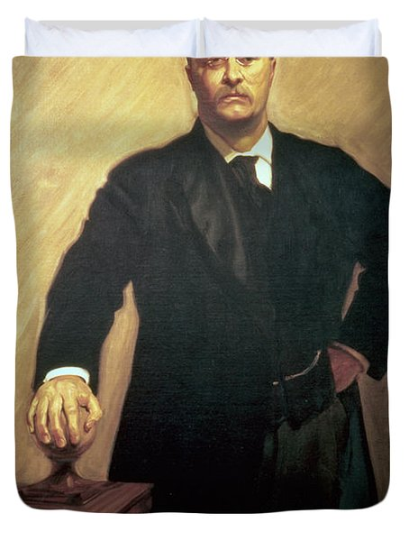Portrait Of Theodore Roosevelt Duvet Cover by John Singer Sargent