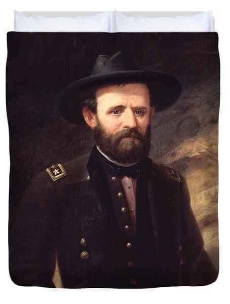 Portrait Of Ulysses S. Grant Duvet Cover