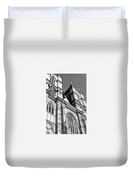 Portrait Of Westminster Abbey Duvet Cover