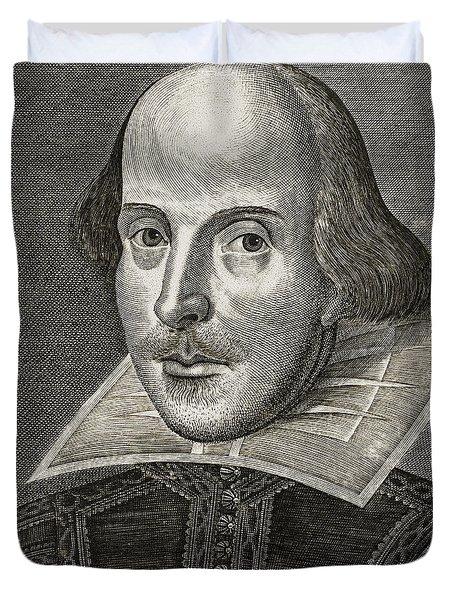Portrait Of William Shakespeare Duvet Cover