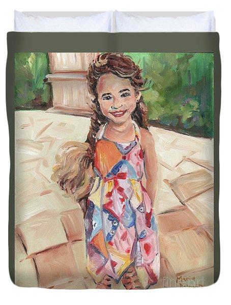 Portrait Painting Duvet Cover