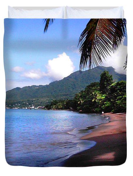 Portsmouth Shore On Dominica Filtered Duvet Cover
