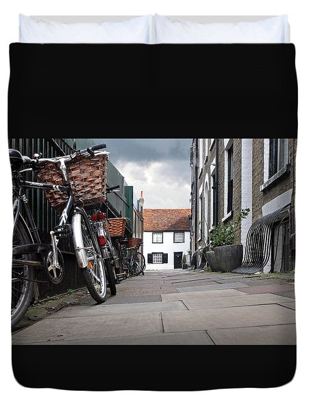 Duvet Cover featuring the photograph Portugal Place Cambridge by Gill Billington
