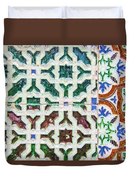 Portuguese Handmade Tile Duvet Cover