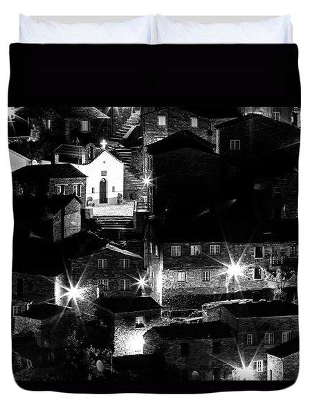Duvet Cover featuring the photograph Portuguese Rural Village by Edgar Laureano
