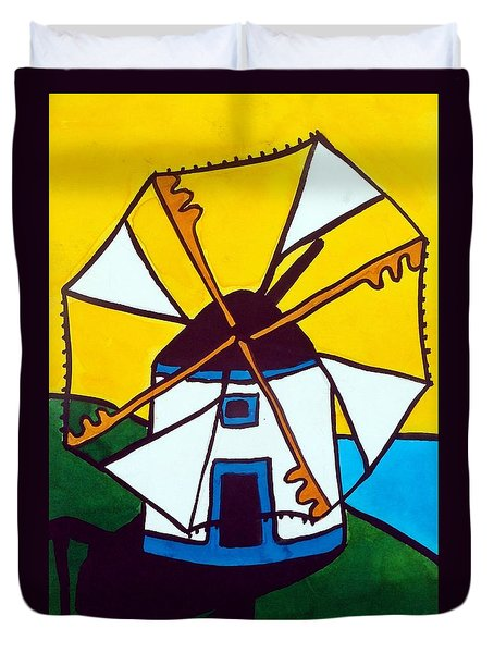 Portuguese Singing Windmill By Dora Hathazi Mendes Duvet Cover