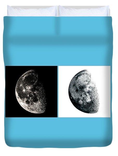 Pos-neg Moon Duvet Cover