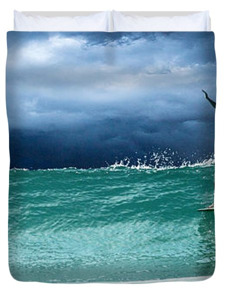 Poseiden's Prayer Duvet Cover