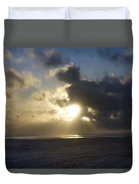 Poseidon Embellished By The Sun Duvet Cover