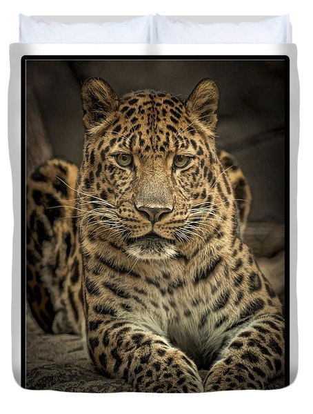 Duvet Cover featuring the photograph Poser by Cheri McEachin
