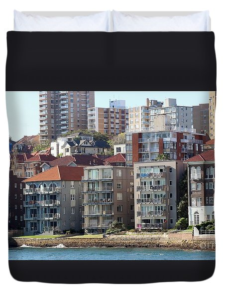 Duvet Cover featuring the photograph Posh Burbs by Stephen Mitchell