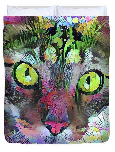 Posie The Tabby Cat Duvet Cover