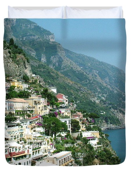 Positano In The Afternoon Duvet Cover