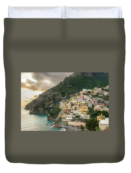 Positano Sunset Duvet Cover