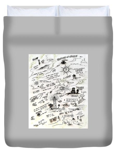 Positive Reminders Duvet Cover