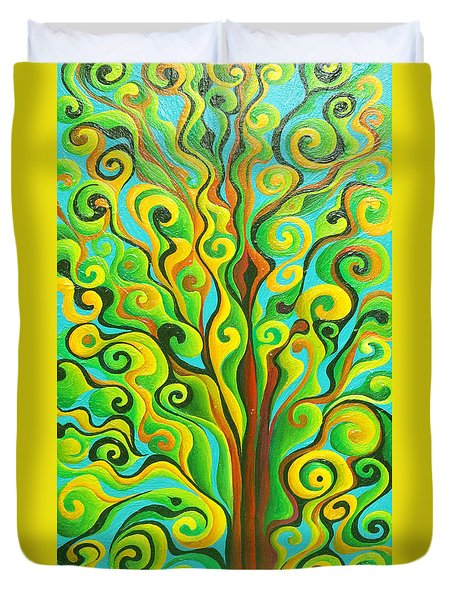 Positronic Spirit Tree Duvet Cover