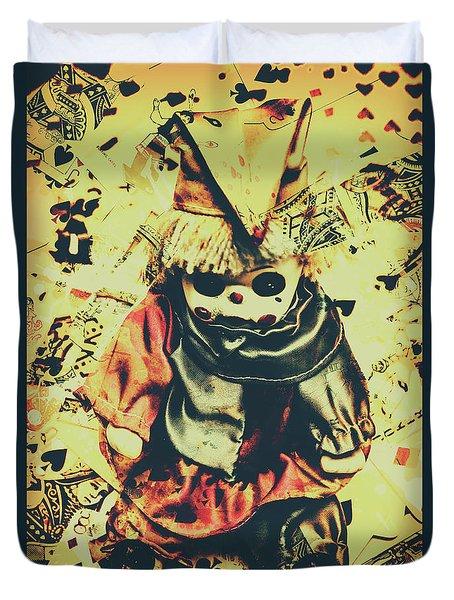 Possessed Vintage Horror Doll  Duvet Cover