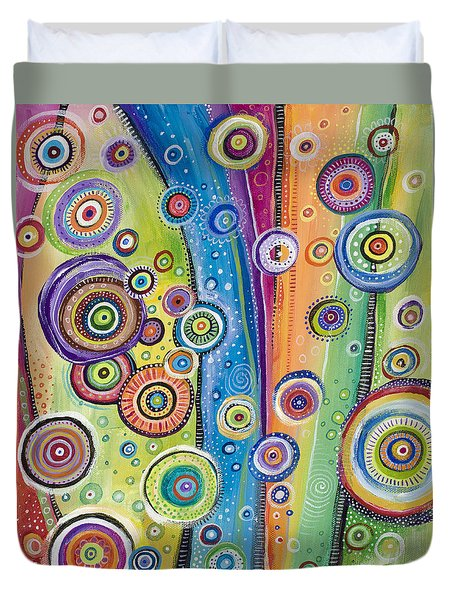 Duvet Cover featuring the painting Possibilities by Tanielle Childers