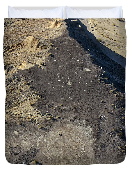 Duvet Cover featuring the photograph Possible Archeological Site by Jim Thompson
