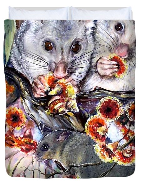 Possum Family Duvet Cover