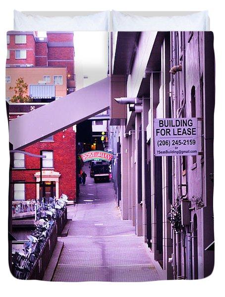 Post Alley, Seattle Duvet Cover