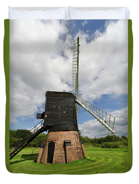 Post Mill Windmill Duvet Cover by Steev Stamford