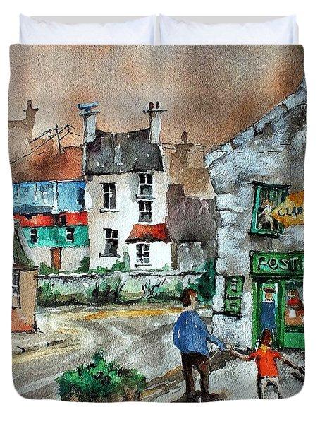 Post Office Mural In Ennistymon Clare Duvet Cover