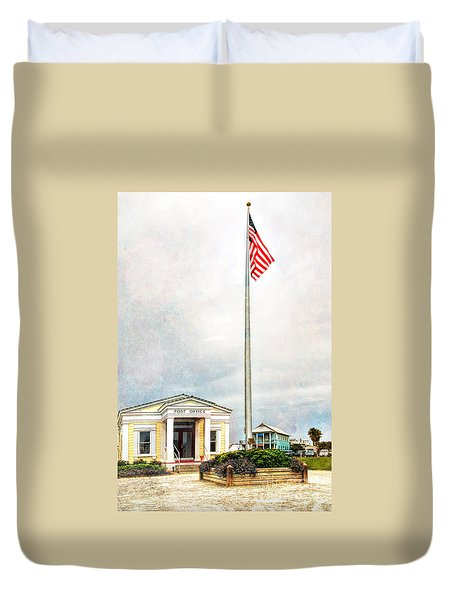 Post Office In Seaside Florida Duvet Cover