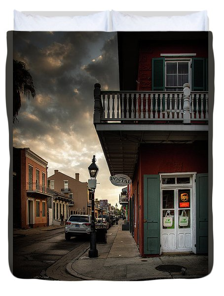 Postal On Bourbon Duvet Cover