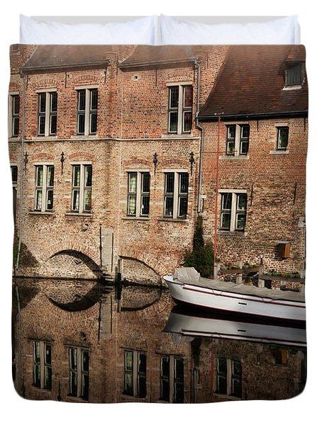 Postcard Canal II Duvet Cover by Joan Carroll