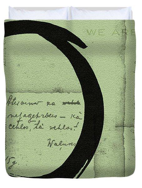 Postcard For Peace Duvet Cover by Julie Niemela