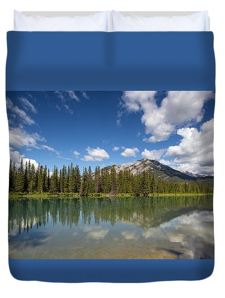 Postcard From Banff Duvet Cover