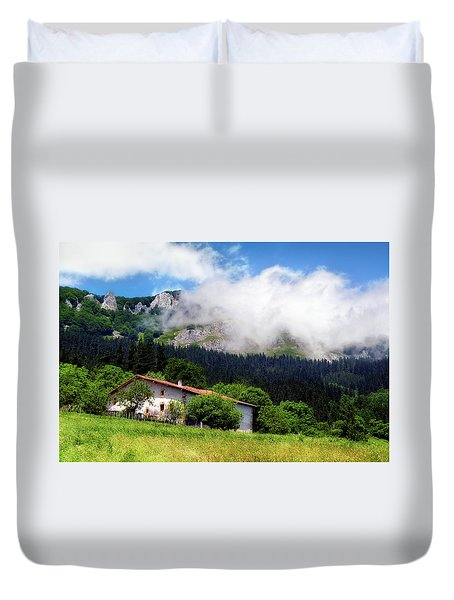 Postcard From Basque Country Duvet Cover