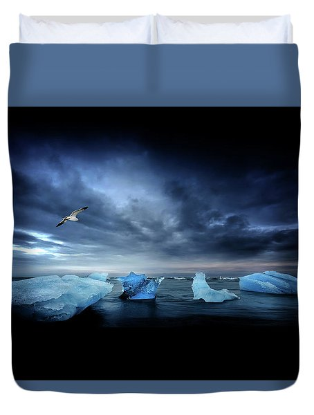 Postcard From Jokulsarlon Duvet Cover