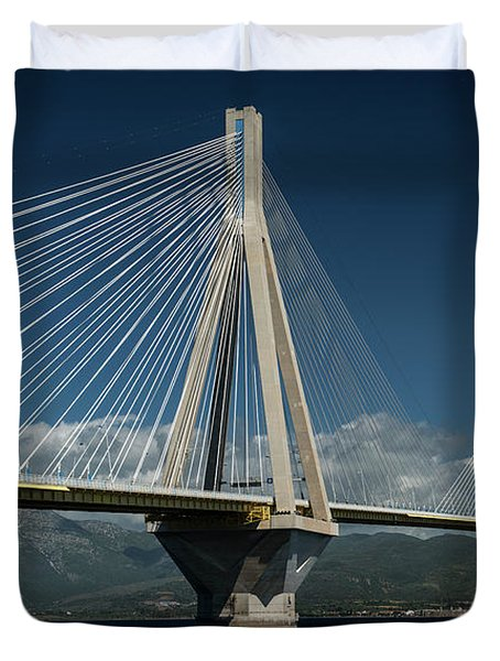 Postcard With Rio-andirio Bridge  Duvet Cover